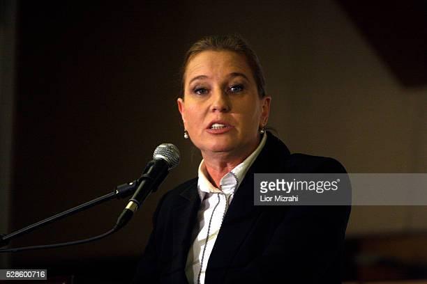 Israel's opposition leader Tzipi Livni speaks during a conference on February 23 2010 in Jerusalem Israel