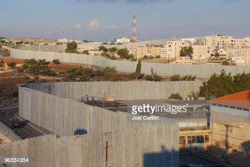 Israel's Security Barrier on edge of Bethlehem