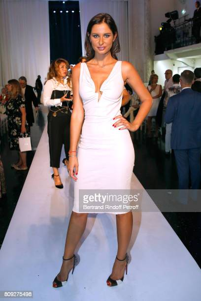 iss France 2010 Malika Menard attends the Jean Paul Gaultier Haute Couture Fall/Winter 20172018 show as part of Haute Couture Paris Fashion Week on...