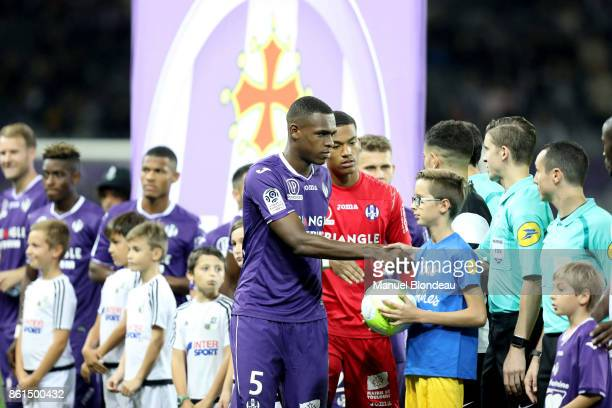 Issa Diop of Toulouse during the Ligue 1 match between Toulouse and Amiens SC at Stadium Municipal on October 14 2017 in Toulouse