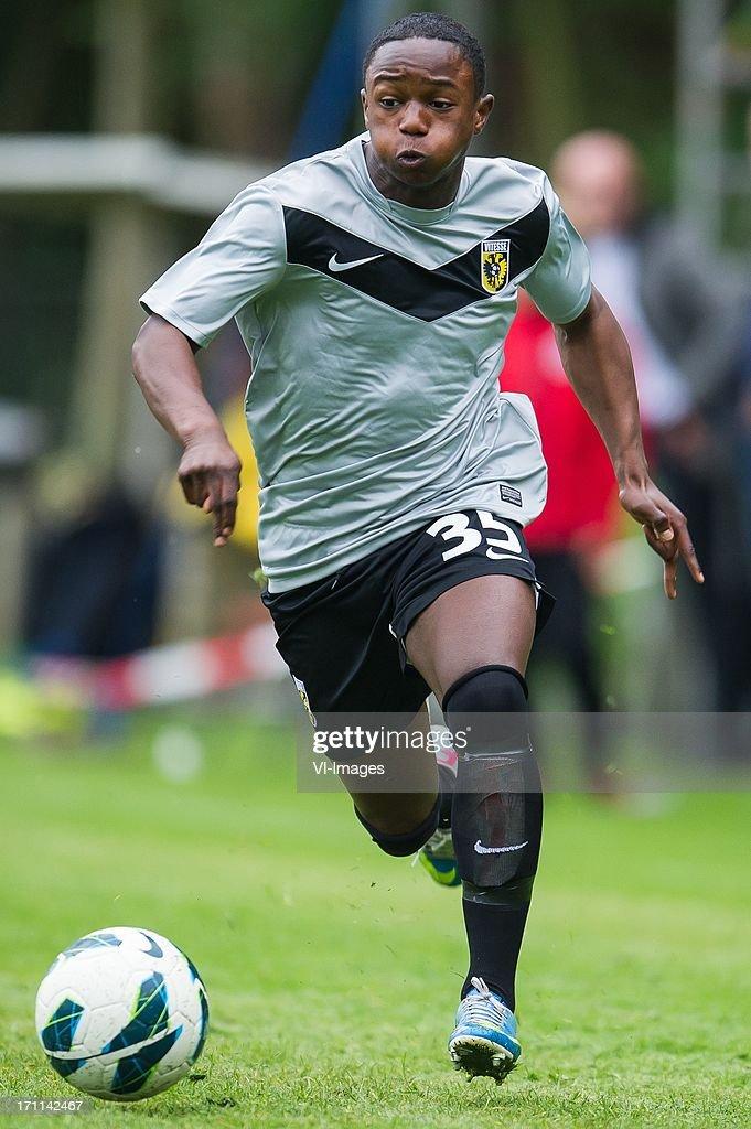 Issa Kallon of Vitesse during the pre season friendly match between on June 20, 2013 at Sportpark de Bree West in Scherpenzeel , The Netherlands.