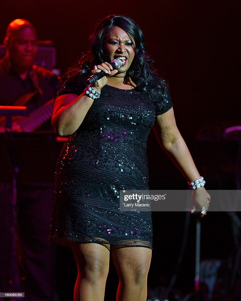 Issa Pointer of The Pointer Sisters performs at Hard Rock Live! in the Seminole Hard Rock Hotel & Casino on January 25, 2013 in Hollywood, Florida.