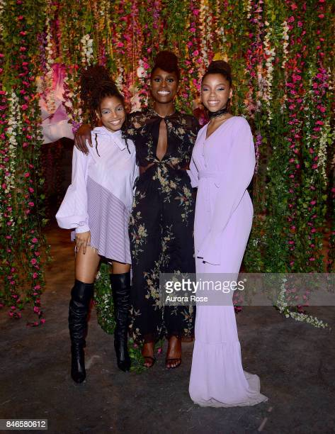Issa Rae and Chloe x Halle attend Refinery29's '29Rooms Turn It Into Art' at 106 Wythe Ave on September 7 2017 in New York City