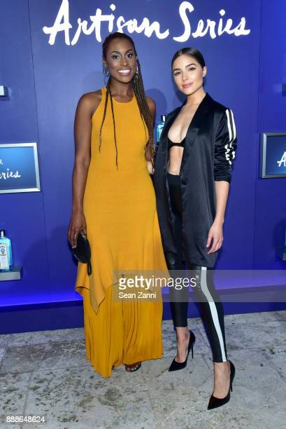 Issa Rae and Olivia Culpo attend the 8th Annual Bombay Sapphire Artisan Series Finale Hosted By Issa Rae at Villa Casa Casuarina on December 8 2017...