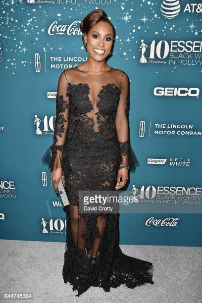 Issa Rae attends the Essence 10th Annual Black Women In Hollywood Awards Gala at the Beverly Wilshire Four Seasons Hotel on February 23 2017 in...