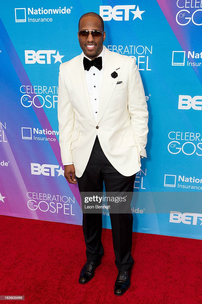Issac Carree arrives at the BET Network's 13th Annual 'Celebration of Gospel' at Orpheum Theatre on March 16, 2013 in Los Angeles, California.