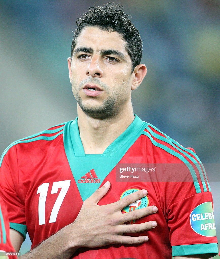 Issam El Adoua during the 2013 African Cup of Nations match between Morocco and Cape Verde at Moses Mahbida Stadium on January 23, 2013 in Durban, South Africa.