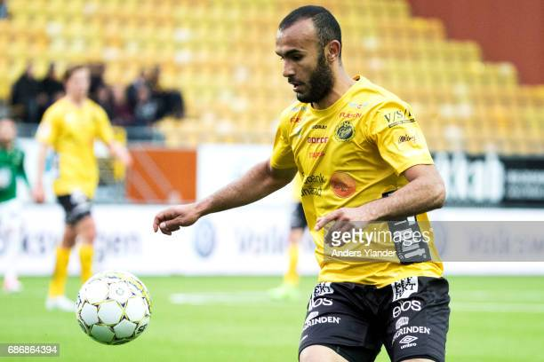 Issam Jebali of IF Elfsborg controls the ball during the Allsvenskan match between IF Elfsborg and Jonkopings Sodra IF at Boras Arena on May 22 2017...