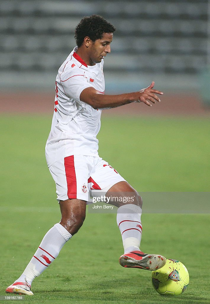 Issam Jemaa of Tunisia in action during the international friendly game between Tunisia and Ethiopia at the Al Wakrah Stadium on January 7, 2013 in Doha, Qatar.