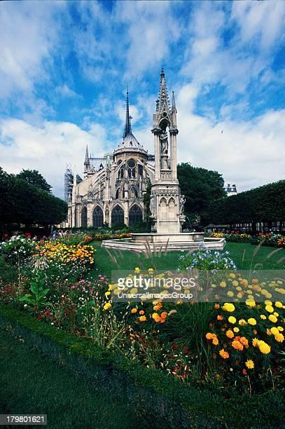 Isse de la Cite East Facade Cathedral of Notre Dame Paris Europe France