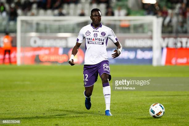Issiaga Sylla of Toulouse during the Ligue 1 match between FC Metz and Toulouse FC at Stade SaintSymphorien on May 14 2017 in Metz France