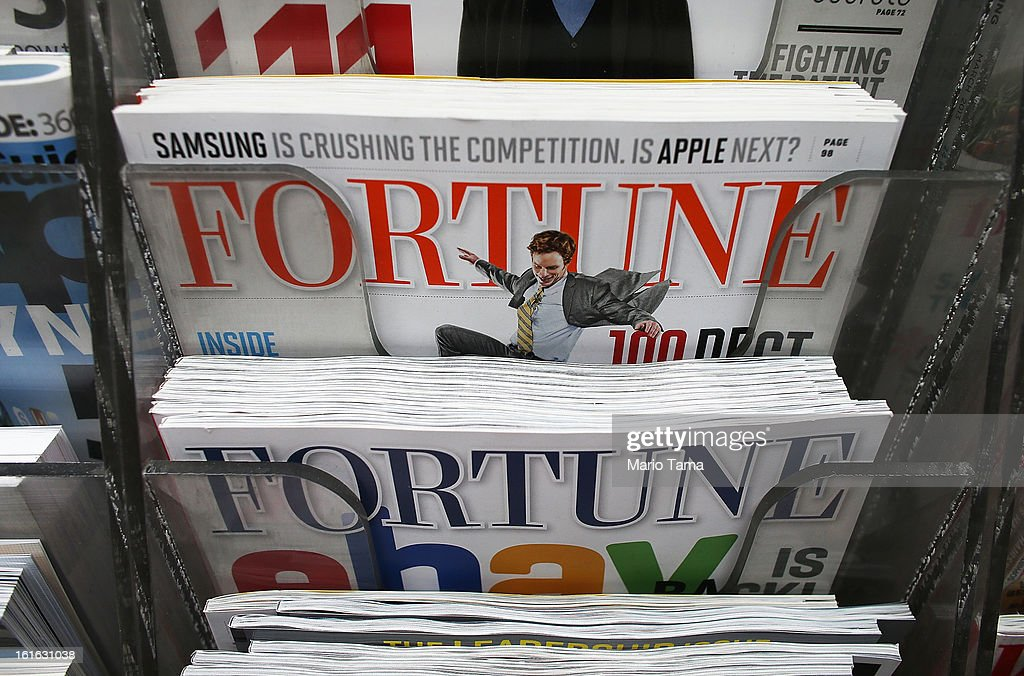 Issues of Fortune magazine are for sale at a newsstand in Manhattan on February 13, 2013 in New York City. Time Warner Inc. is reportedly in talks to sell most of its magazine group, including People, InStyle, Real Simple and Entertainment Weekly, to the Meredith Corporation. Time Warner would reportedly retain control of flagship titles Time, Sports Illustrated and Fortune.