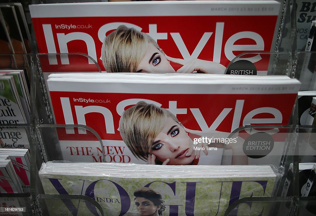 Issues of InStyle magazine are displayed at a newsstand in Manhattan on February 13, 2013 in New York City. Time Warner Inc. is reportedly in talks to sell most of its magazine group, including People, InStyle and Entertainment Weekly, to the Meredith Corporation. Time Warner would reportedly retain control of flagship titles Time, Sports Illustrated and Fortune.