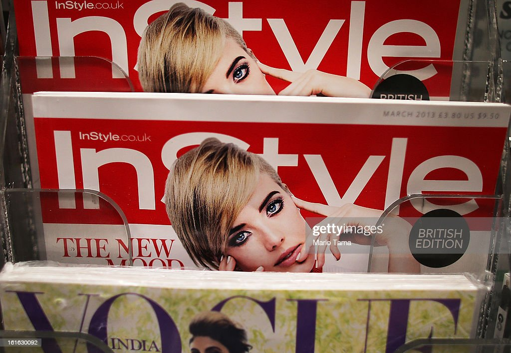 Issues of InStyle magazine are for sale at a newsstand in Manhattan on February 13 2013 in New York City Time Warner Inc is reportedly in talks to...
