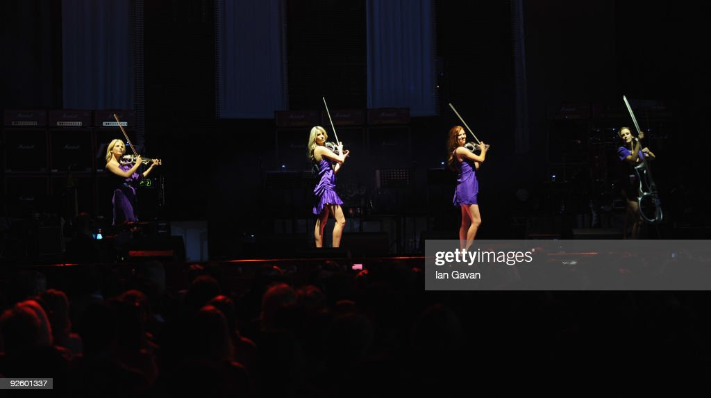 Issy Johnston Chantal Leverton Victoria Lyon and Tasya Hodges from 'Escala' perform live as part of the PINKTOBER Women Of Rock Charity Concert at...