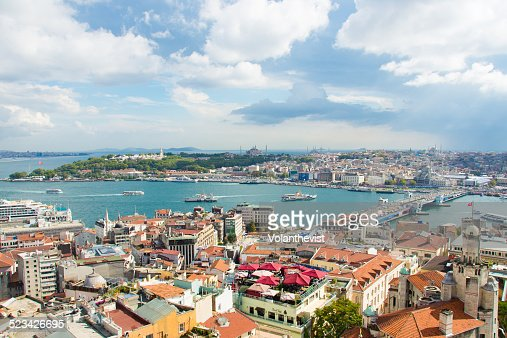 Istanbul and Bosphorus river