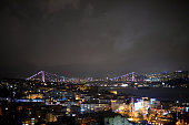Istanbul Bosphorus and Bosphorus Bridge atmosphere view from the Vogue 5th Birthday celebration during Mercedes Benz Fashion Week Istanbul FW15 on...