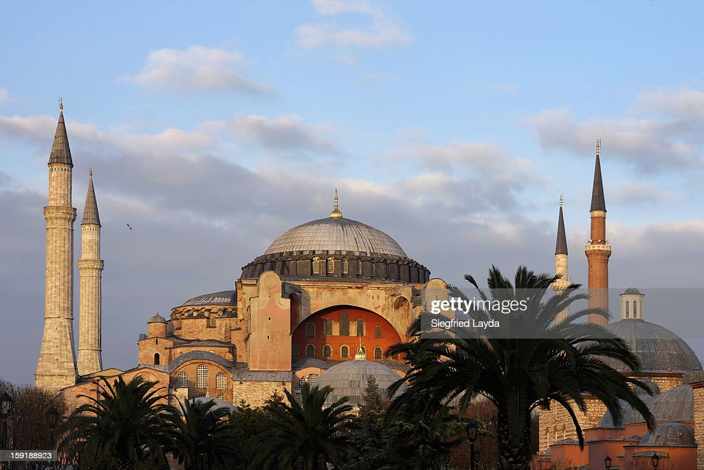 Istanbul, Hagia Sophia at sunset : Stock Photo
