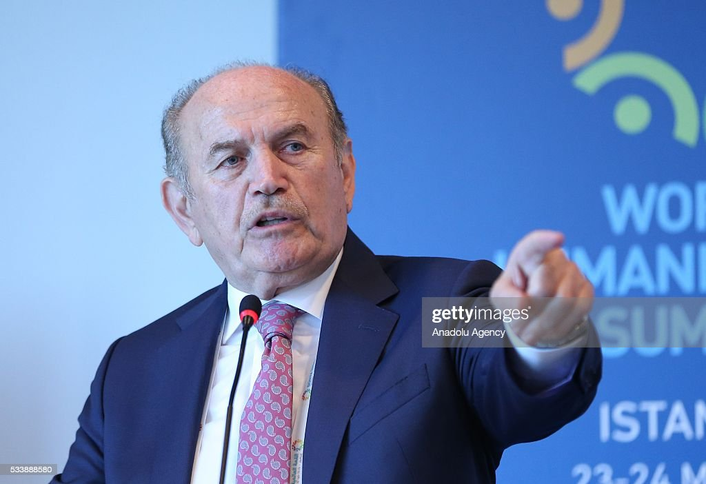 Istanbul Mayor Kadir Topbas delivers a speech during a side event 'Mayors Focus Session: Cities Response to Migration' within the World Humanitarian Summit in Istanbul, Turkey on May 24, 2016.