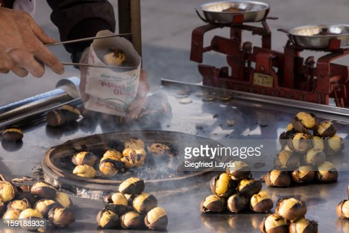Istanbul, Roasted Chestnuts : Stock Photo
