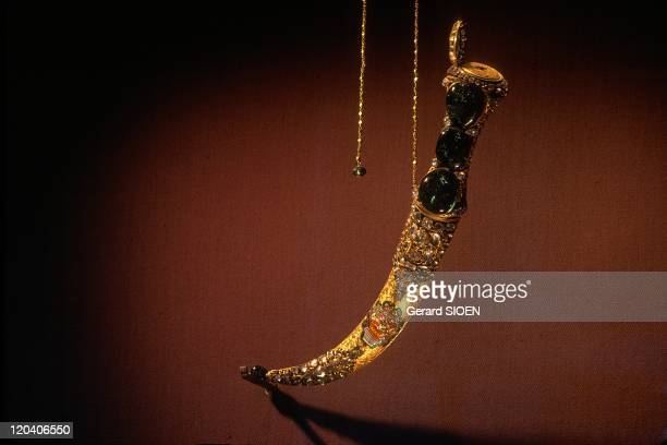 Istanbul Turkey Topkapi palace dagger from the weapons collection