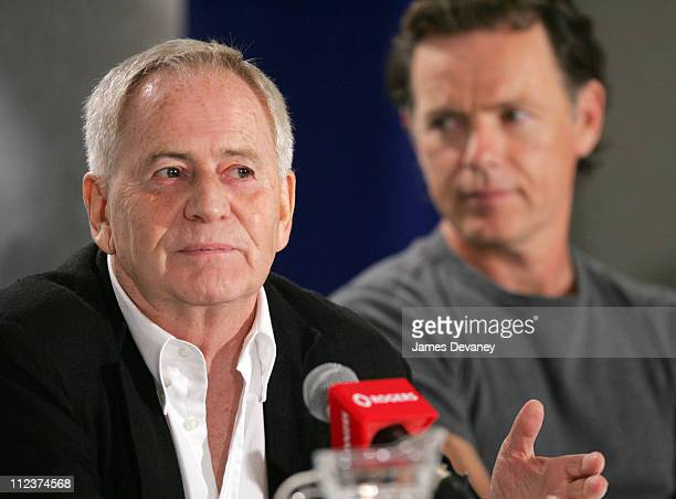 Istvan Szabo and Bruce Greenwood during 2004 Toronto International Film Festival 'Being Julia' Press Conference at Four Seasons in Toronto Ontario...