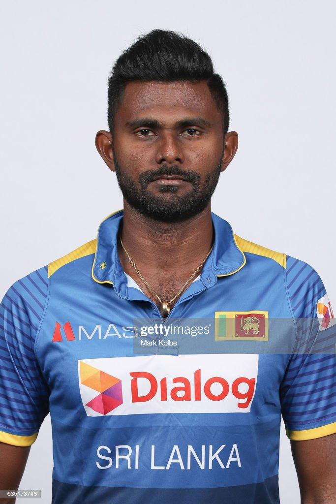 Isuru Udana of Sri Lanka poses during a Sri Lanka headshots session at the Realm Hotel on February 14, 2017 in Canberra, Australia.