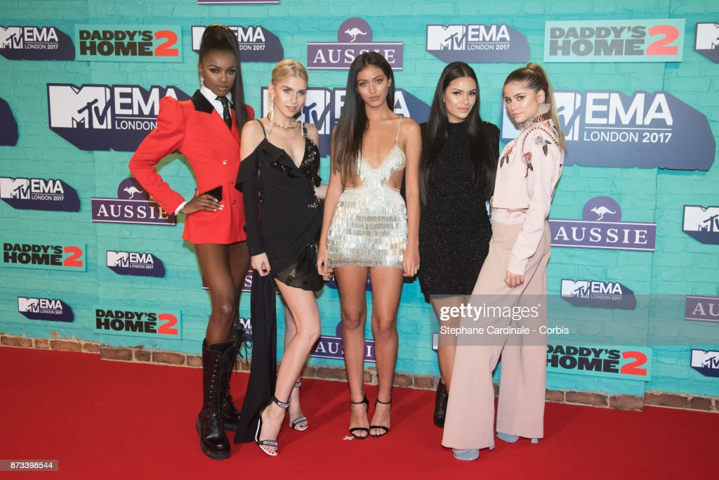 It Girls (L-R) Leomie Anderson, Caroline Daur, Cindy Kimberly, Monica Geuze and Sofia Reyes attend the MTV EMAs 2017 at The SSE Arena, Wembley on November 12, 2017 in London, England.