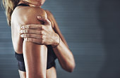 Shot of a sportswoman with a shoulder injuryhttp://195.154.178.81/DATA/i_collage/pi/shoots/806023.jpg