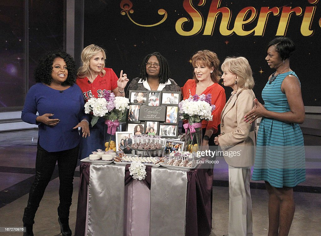 THE VIEW - It is a celebration of Sherri Shepherd's birthday on 'THE VIEW,' 4/22/13 (11:00 a.m. - 12:00 noon, ET) airing on the ABC Television Network. WALTERS, AMINA