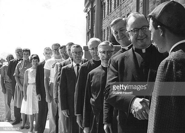 AUG 22 1961 SEP 3 1961 It is a rare opportunity for a freshman like Dan O'Brien in beanie of Colorado Springs to meet those who have prepared the way...