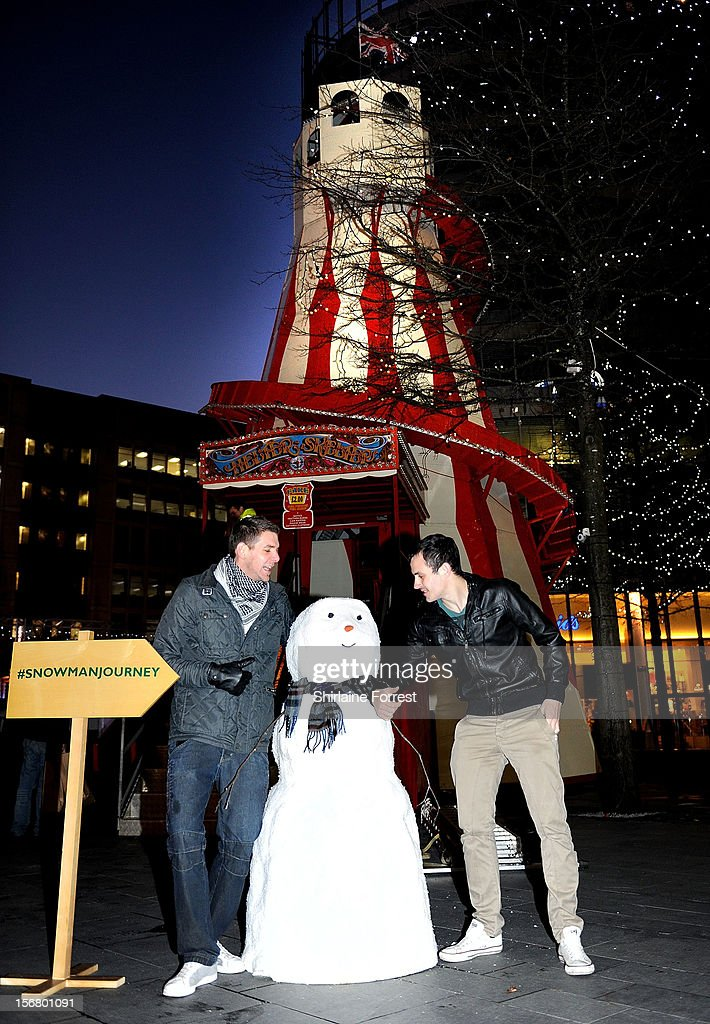 It may not be snowing, but a snowman has already appeared in Manchester. The star of the current John Lewis Christmas advertising campaign is making a journey across the United Kingdom over the coming weeks and has stopped off in Manchester on his trek. The snowman, who is gracing our screens as he valiantly searches for the perfect present to give to his beloved snowwoman, is 'popping up' in unexpected locations in major UK cities. Eagle-eyed passersby are being asked to share their pictures of the snowman if they spot him on his quest using the hashtag snowmanjourney. on November 21, 2012 in Manchester, United Kingdom.