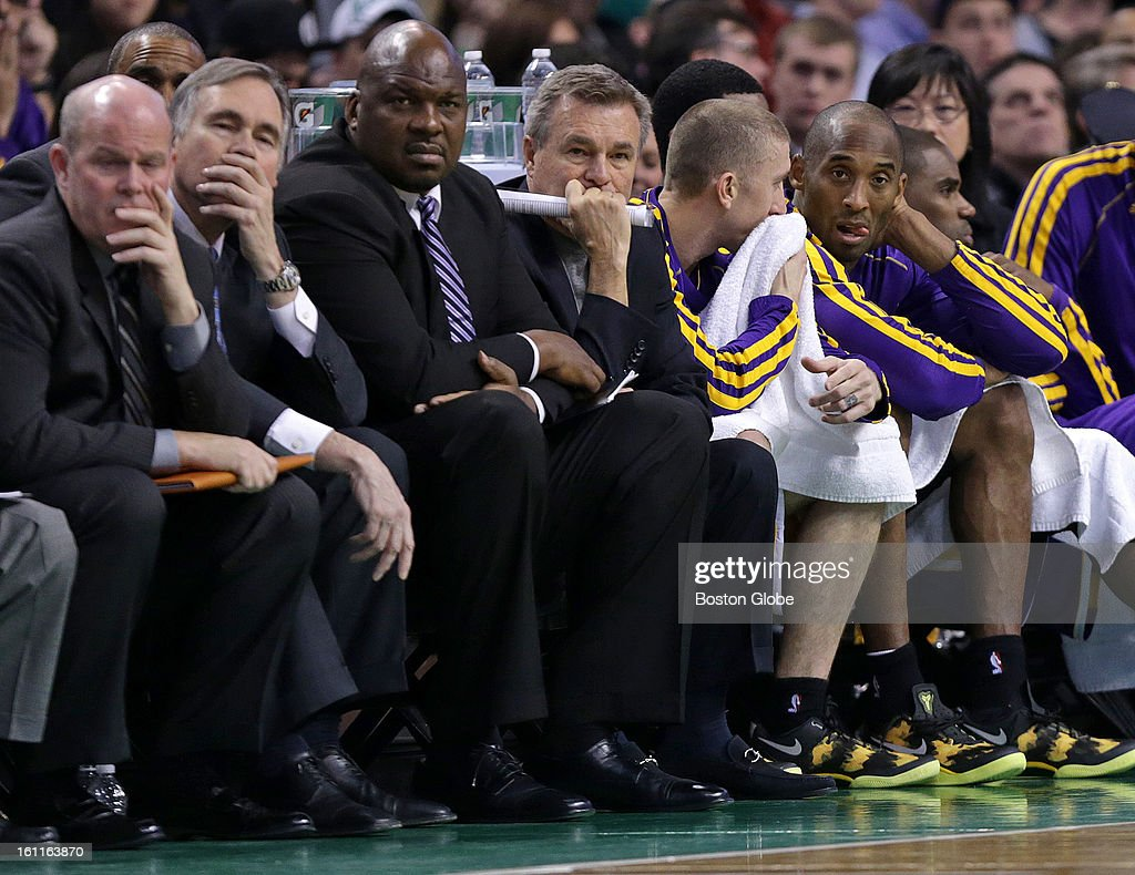It was a rough night watching for Los Angeles Lakers head coach Mike D'Antoni and Los Angeles Lakers shooting guard Kobe Bryant as they took in the...