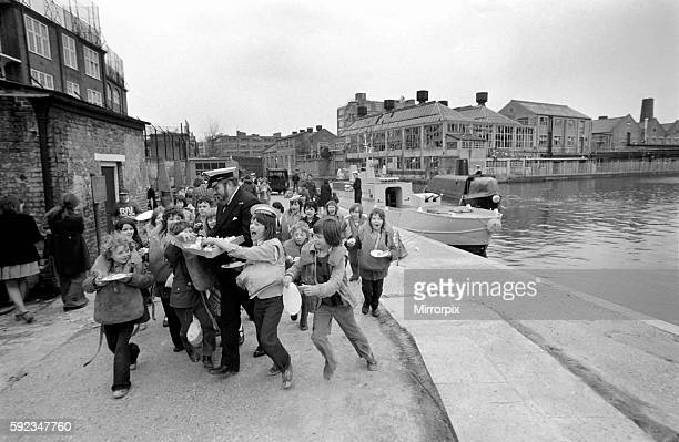 It was almost mutiny at the City Road Basin Islington as children swarmed over firgate HMS Cleopatra and submarine HMS Renown but Fleet Chief Petty...