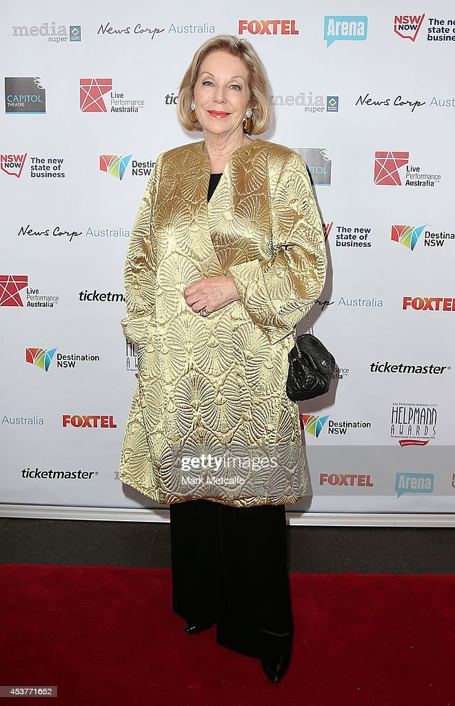 <a gi-track='captionPersonalityLinkClicked' href=/galleries/search?phrase=Ita+Buttrose&family=editorial&specificpeople=220377 ng-click='$event.stopPropagation()'>Ita Buttrose</a> arrives at the 2014 Helpmann Awards at the Capitol Theatre on August 18, 2014 in Sydney, Australia.