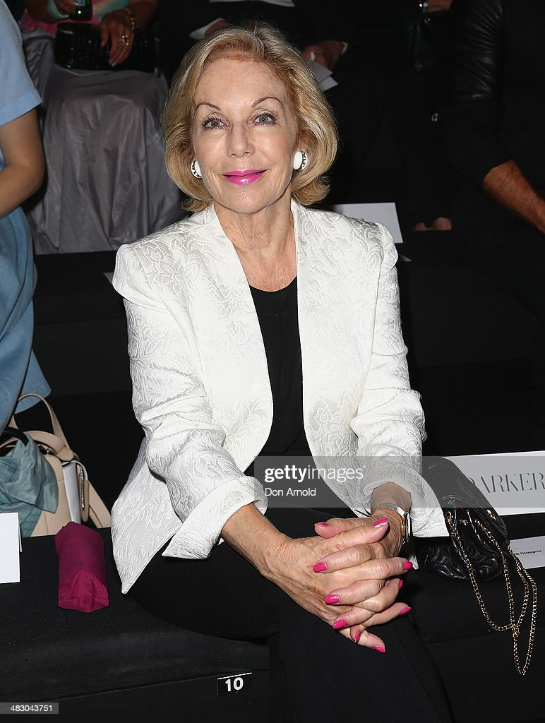 Mercedes-Benz Presents Carla Zampatti - Front Row - Mercedes-Benz Fashion Week Australia 2014
