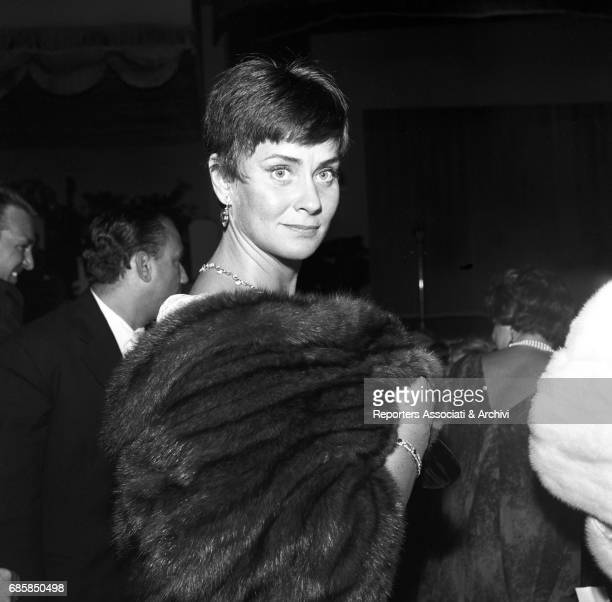 Itaian actress Alida Valli attending the 'Maschere d'argento' awarding ceremony at the Casina delle Rose Rome 10th September 1958