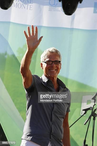 Italia singer Claudio Baglioni during his speech at Collisioni Festival 2016 Barolo July 17 2016