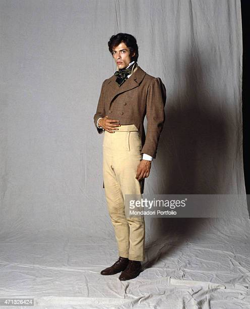 Italian actor Alessandro Gassmann playing the Italian composer Gaetano Donizetti in the TV miniseries La famiglia Ricordi Italy 1993