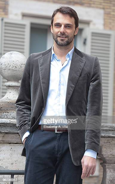 Italian actor Alessandro Preziosi attends 'Sant'Agostino' photocall at Sant'Agostino Basilica on January 28 2010 in Rome Italy