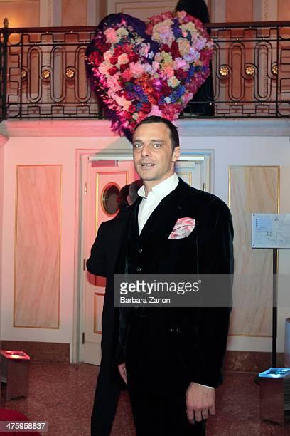 Italian actor Alessandro Preziosi seen during the Gran Ballo della Cavalchina at La Fenice Theatre on March 1 2014 in Venice Italy