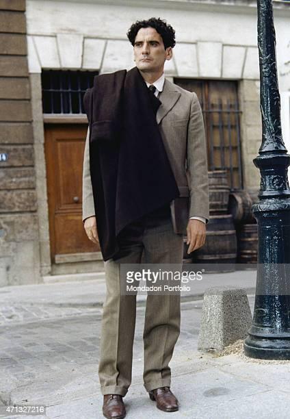 Italian actor and director Massimo Troisi acting in the film Le vie del Signore sono finite 1987