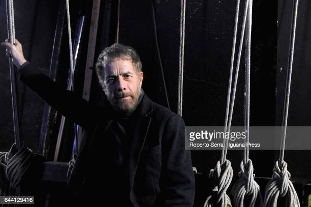 Italian actor and theatrical director Gabriele Lavia portrait session at Arena del Sole teather on February 22 2017 in Bologna Italy