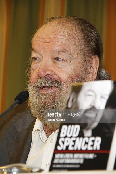 Italian actor Bud Spencer attends a press confrence to present a special edition of his autobiography 'Bud Spencer Mein Leben meine Filme' to...