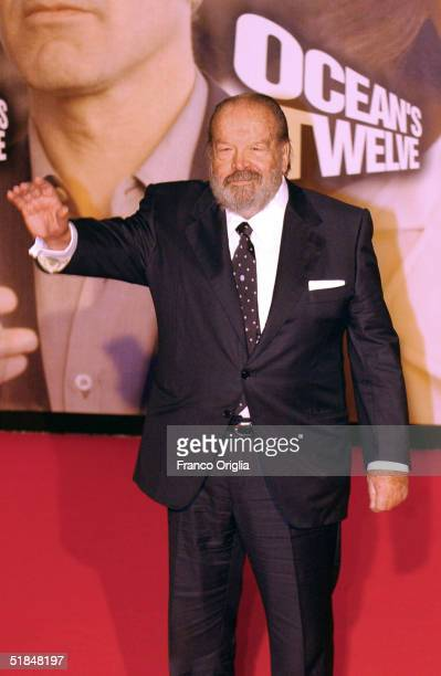 Italian actor Bud Spencer attends the European premiere of 'Ocean's Twelve' the sequel to 'Ocean's Eleven' at the Cinema Warner Village Moderno...