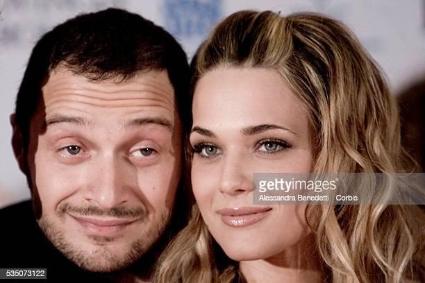 Italian actor Claudio Santamaria and actress Laura Chiatti from TV series 'Rino Gaetano' at the 1st Rome Fiction Festival