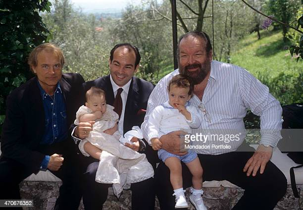 'Italian actor director scriptwriter and TV producer Terence Hill Italian actor scriptwriter and film producer Bud Spencer and his son Giuseppe...