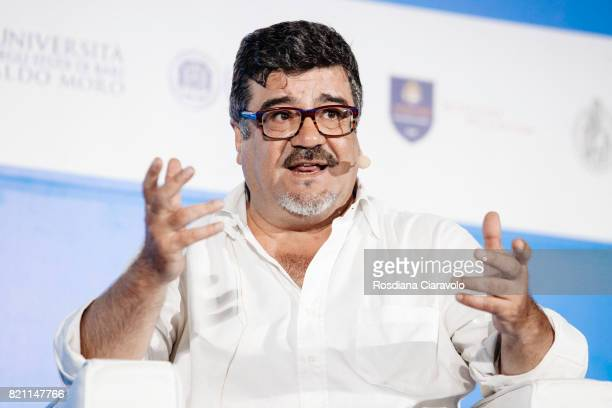 Italian actor dubber and director of dubbing Francesco Pannofino attends Campus Party on July 22 2017 in Milan Italy