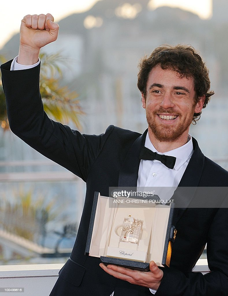 Italian actor Elio Germano poses after winning the Best Actor award during the closing ceremony at the 63rd Cannes Film Festival on May 23, 2010 in Cannes.