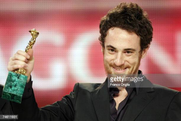 Italian actor Elio Germano receives best Italian actor award at the David di Donatello 2007 Italian Awards at the At Gran Teatro di Tor di Quinto...